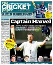 The Cricket Paper Magazine Cover