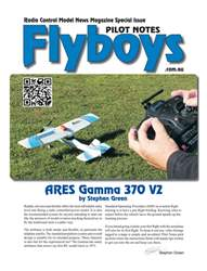 ARES Gamma 370 V2 Flyboys Pilot Notes #1 issue  ARES Gamma 370 V2 Flyboys Pilot Notes #1