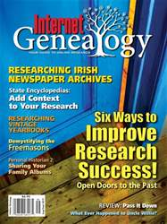 Internet Genealogy issue AugSep2017