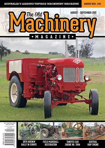 The Old Machinery Magazine Preview
