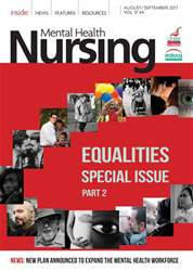 Mental Health Nursing issue Aug/Sep 2017