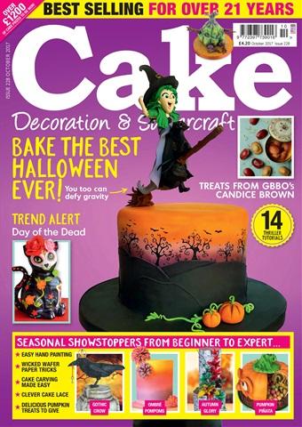 Cake Decoration & Sugarcraft Magazine issue October 2017