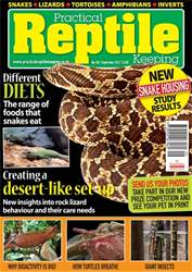 Practical Reptile Keeping issue September 2017