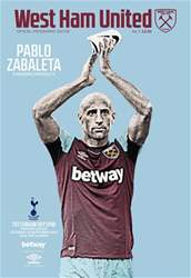 West Ham Utd Official Programmes issue Tottenham Hotspur