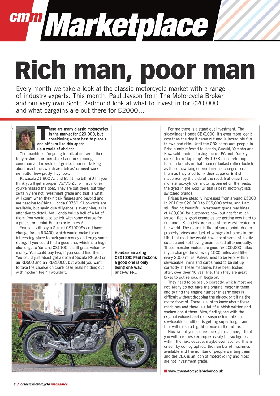 Classic Motorcycle Mechanics Magazine March 2018