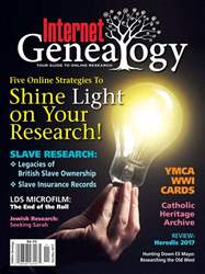 Internet Genealogy issue OctNov2017