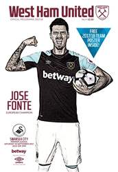 West Ham Utd Official Programmes issue Swansea City