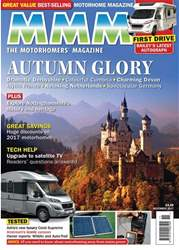 MMM issue Autumn Glory November 2017 with FREE 2018 motorhome supplement