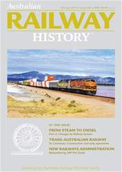 Australian Railway History issue October 2017