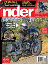 Rider Magazine issue December 2017