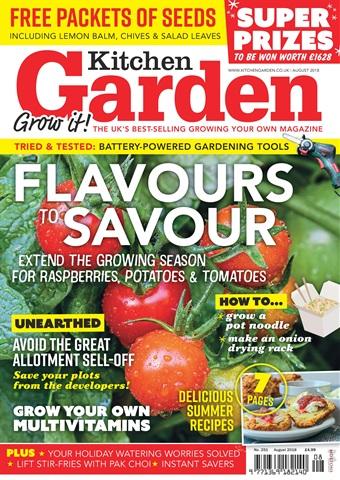 Kitchen Garden Magazine issue August 2018