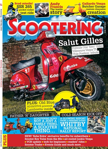 Scootering issue May 2018
