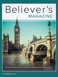 Believer's Magazine issue November 2017