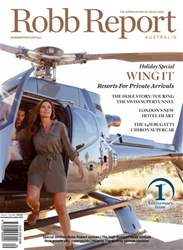 Robb Report Australia issue Robb Report Australia Volume 1, Number 9, Nov/Dec 2017