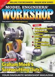 Model Engineers' Workshop Magazine issue Nov 17