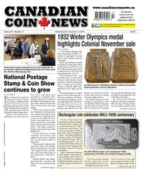 Canadian Coin News issue V55#17 - November 28