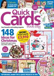 Quick Cards Made Easy issue Christmas 2017