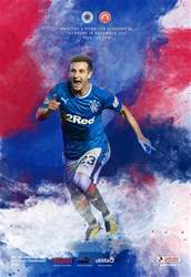 Rangers Football Club Matchday Programme issue Rangers v Hamilton 18-11-17
