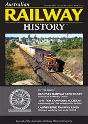 Australian Railway History issue November 2017