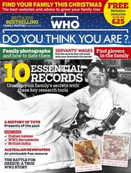 Who Do You Think You Are? issue December 2017