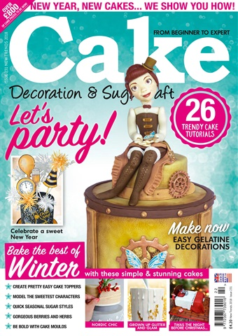 Cake Decoration & Sugarcraft Magazine issue New Trends 2018