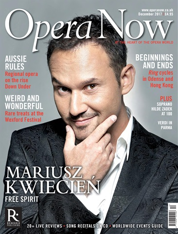 Opera Now issue December 2017