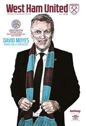West Ham Utd Official Programmes issue Leicester City
