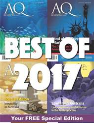 AQ: Australian Quarterly issue 88.5 Best of 2017 - SPECIAL