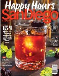 San Diego Magazine issue December 2017 Happy Hours