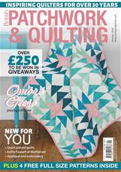 Patchwork and Quilting Magazine Cover