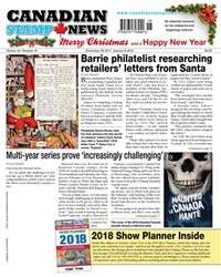 Canadian Stamp News issue V42#18 - December 26