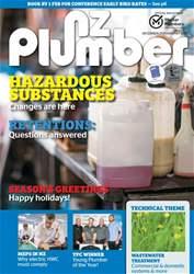 NZ Plumber December 2017-January 2018 issue NZ Plumber December 2017-January 2018