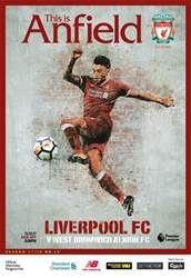Liverpool FC Programmes issue vs West Bromwich Albion 17/18