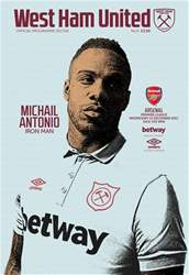 West Ham Utd Official Programmes issue Arsenal