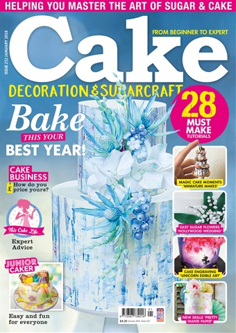 Cake Decoration & Sugarcraft Magazine issue January 2018