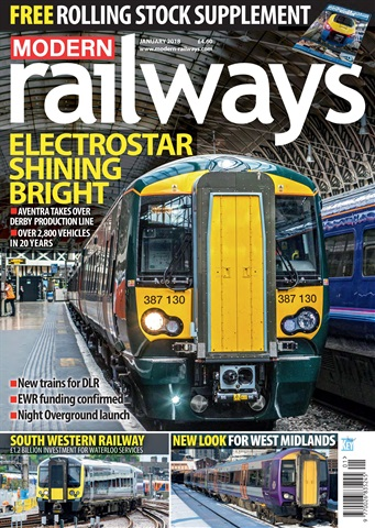 Modern Railways issue  January 2018