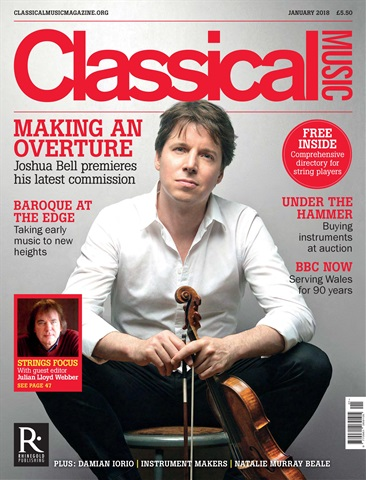 Classical Music issue January 2018