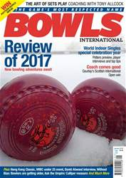 Bowls International issue  January 2018