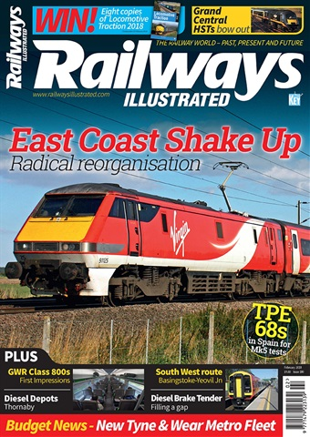 Railways Illustrated issue   February 2018