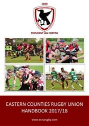 Eastern Counties Rugby Union Magazine Cover
