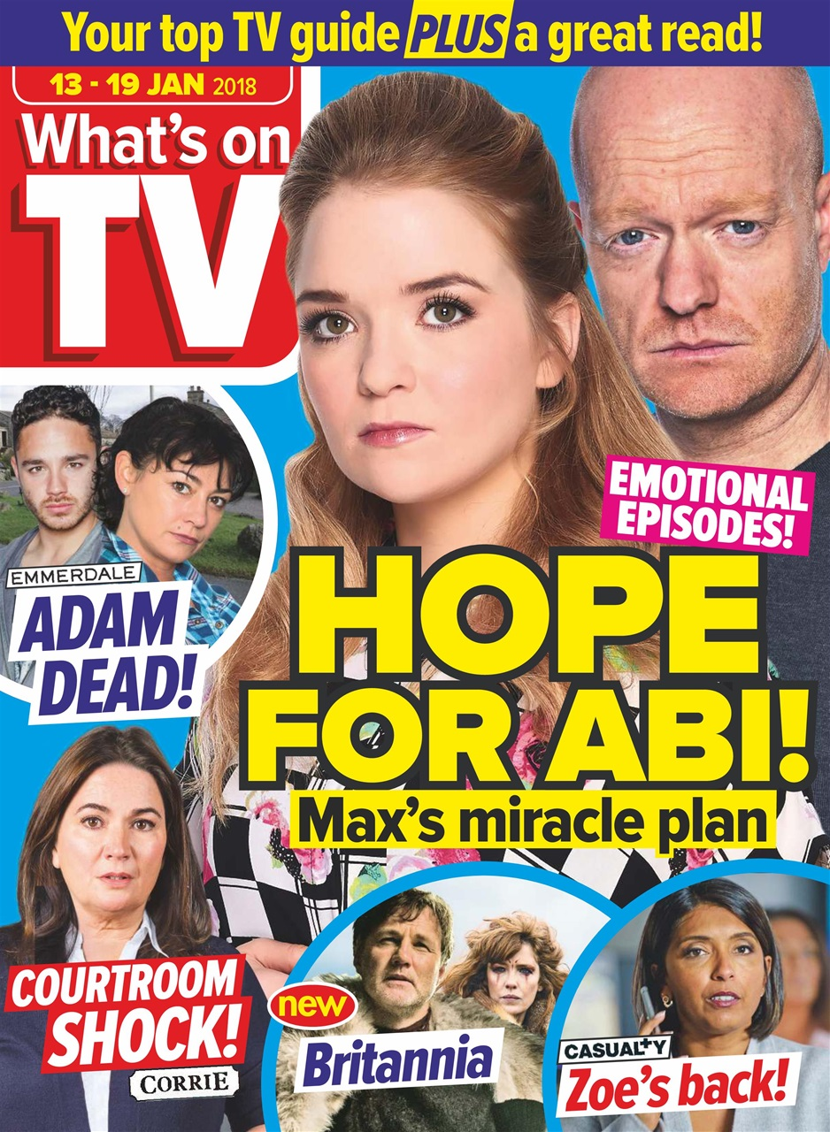 what 39 s on tv magazine 13th january 2018 subscriptions pocketmags. Black Bedroom Furniture Sets. Home Design Ideas