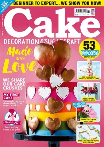 Cake Decoration & Sugarcraft Magazine issue February 2018