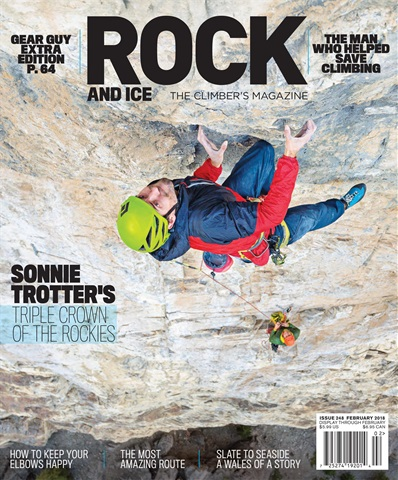 Rock and Ice issue February 2018