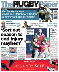 The Rugby Paper issue 14th January 2018