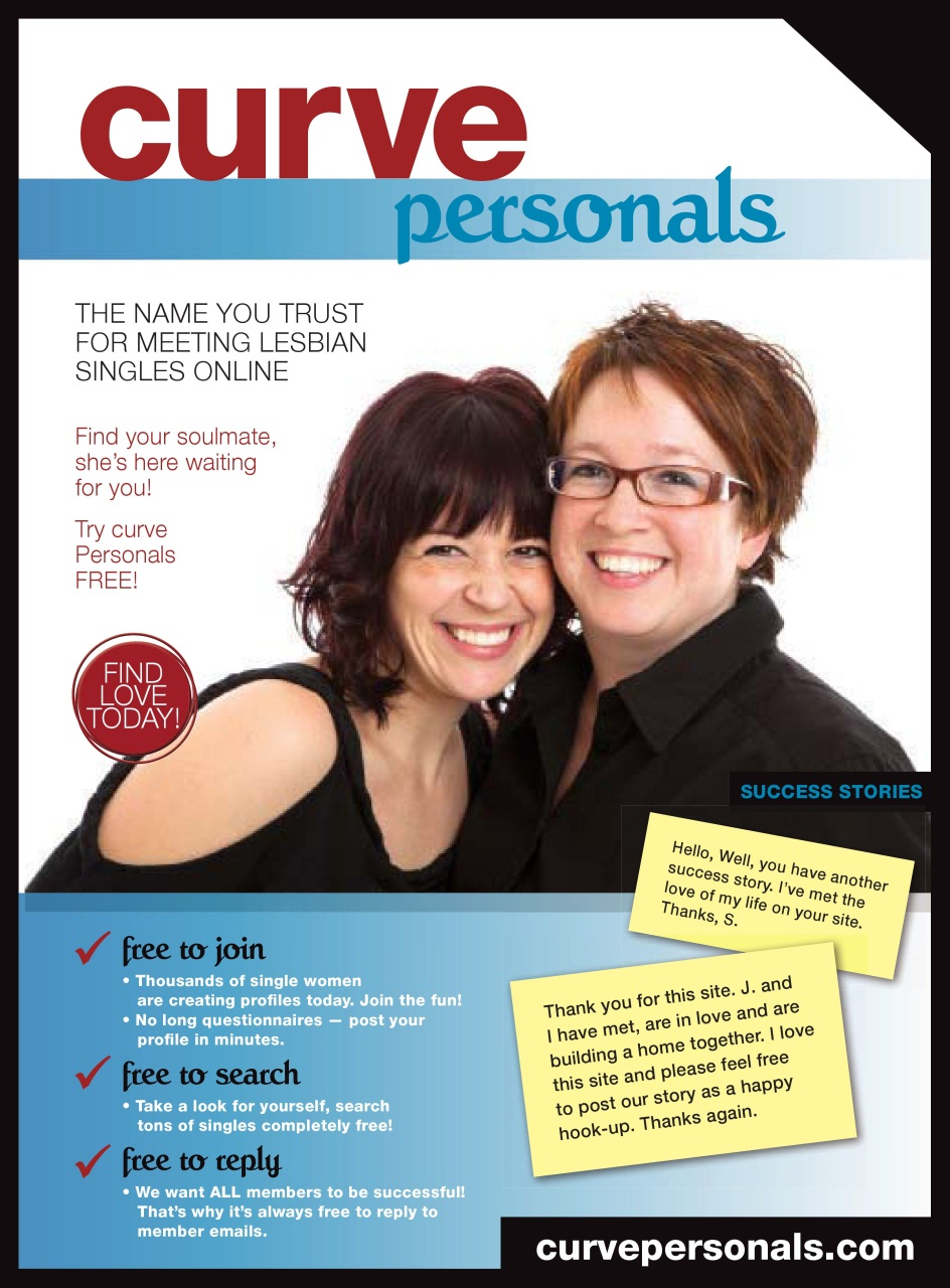 issue singles & personals Curve, the nation's best-selling lesbian magazine, spotlights celebrity interviews, news, politics, shopping, pop culture, style, travel, social issues and entertainment.