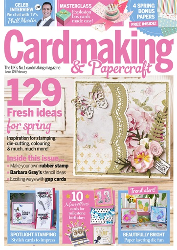 Cardmaking Papercraft Magazine February 2018 Subscriptions