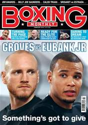 Boxing Monthly Magazine Cover