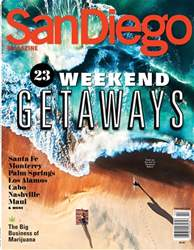 San Diego Magazine issue Weekend Getaways