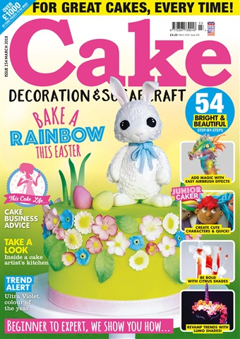 Cake Decoration & Sugarcraft Magazine issue March 2018
