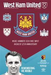 West Ham Utd Official Programmes issue Watford